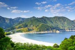 Playa de Atashika en Kumano Japón Imágenes de archivo libres de regalías