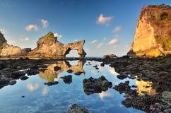 Playa de Atuh Imagen de archivo libre de regalías