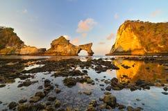 Playa de Atuh Foto de archivo