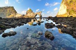 Playa de Atuh Foto de archivo libre de regalías