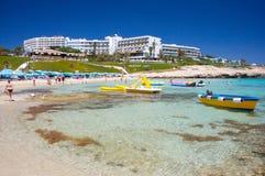 Playa de Ayia Napa Fotos de archivo libres de regalías
