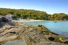 Playa de Azeda en Buzios imagenes de archivo