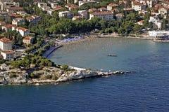 Playa de Bacvice en fractura imágenes de archivo libres de regalías