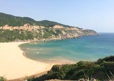 Playa de Bai Mon en el pueblo de Dal Lanh en Phu Yen, Vietnam Foto de archivo libre de regalías