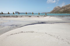 Playa de Balos en Crete Paisaje mediterráneo Grecia imagen de archivo