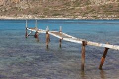 Playa de Balos en Crete Paisaje mediterráneo Grecia imagenes de archivo