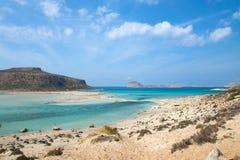 Playa de Balos en la isla de Crete imagen de archivo
