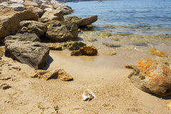 Playa de Bandol Foto de archivo