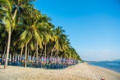 Playa de Bangsean en Tailandia Foto de archivo libre de regalías