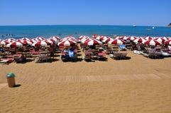 Playa de Baratti en Italia, 2011 Imágenes de archivo libres de regalías