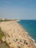 Playa de Barceloneta del La, playa de SpainLa Barceloneta, España Imagen de archivo