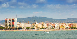 Playa de Barceloneta del mar Barcelona fotos de archivo libres de regalías