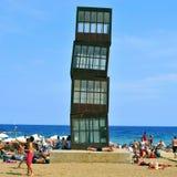 Playa de Barceloneta en Barcelona, España Imágenes de archivo libres de regalías