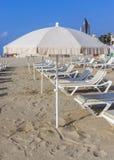 Playa de Barceloneta en Barcelona, España Imagen de archivo libre de regalías