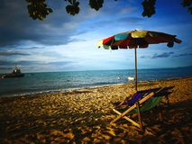 Playa de Batu Ferringhi en Penang Imagenes de archivo