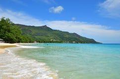 Playa de Beau Vallon, islas de Seychelles imagen de archivo libre de regalías
