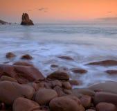 Playa de Beauport en Jersey Imagen de archivo