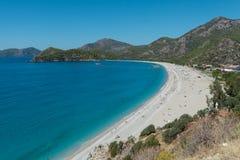 Playa de Belcekiz, Oludeniz, Turquía Imagen de archivo