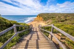Playa de Belces en la costa de la resaca, Victoria Australia Fotos de archivo libres de regalías