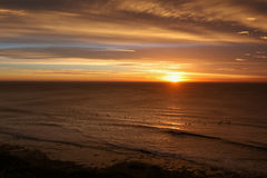 Playa de Belces en la salida del sol Fotografía de archivo libre de regalías