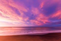Playa de Belces en la salida del sol Imágenes de archivo libres de regalías
