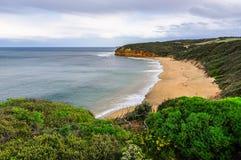 Playa de Bell en el gran camino del océano en Australia Fotografía de archivo