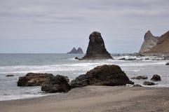 Playa de Benijo Ténérife l'espagne Image stock