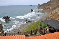 Playa de Benijo Ténérife l'espagne Photos stock