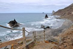 Playa de Benijo tenerife Ισπανία Στοκ Εικόνα