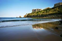 Playa de Biarritz fotografía de archivo