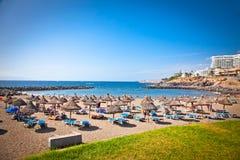 Playa de Bobo in Costa Adeje, Teneriffa, Spanien. Lizenzfreies Stockfoto