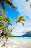 Playa de Bora Bora Fotos de archivo libres de regalías