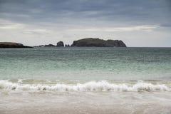 Playa de Bosta en la isla de Lewis en Escocia Foto de archivo libre de regalías