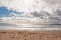 Playa de Bournemouth en el verano Foto de archivo libre de regalías