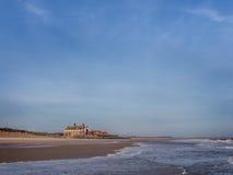Playa de Brancaster con marea baja Fotos de archivo libres de regalías
