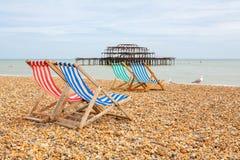 Playa de Brighton. Brighton, Inglaterra Fotos de archivo libres de regalías
