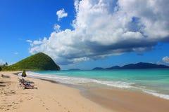 Playa de British Virgin Islands imágenes de archivo libres de regalías