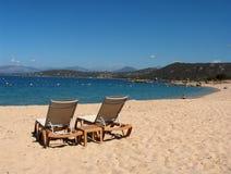 Playa de Córcega - de Porticcio Fotos de archivo