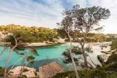 Playa de Cala Llombards Foto de archivo libre de regalías