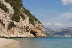 Playa de Cala Luna imagenes de archivo