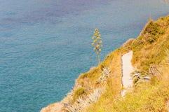 Playa de Calandre en Ventimiglia en italiano Riviera en verano fotos de archivo