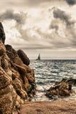 Playa de Calella Fotografía de archivo libre de regalías