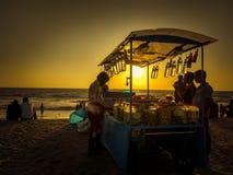 Playa de Calicut Imagen de archivo libre de regalías