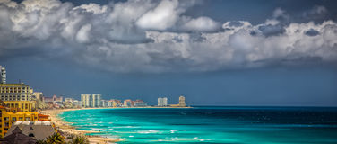 Playa de Cancun imagen de archivo libre de regalías