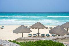 Playa de Cancun México Fotos de archivo