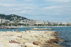 Playa de Cannes Imagenes de archivo