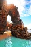 Playa de Catedrais de los catedrales de los las de Playa en Galicia España fotos de archivo