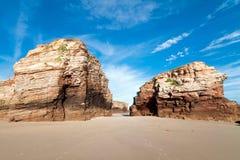 Playa de catedrales, Galicia fotos de archivo