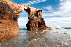 Playa de catedrales, Galicia imagen de archivo