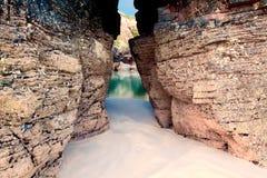 Playa de catedrales, Galicia, España fotos de archivo